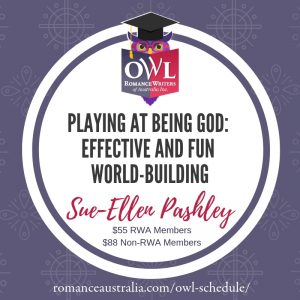 March OWL - Playing at being God: effective and fun world-building with Sue-Ellen Pashley