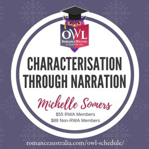 OCTOBER OWL - Characterisation through Narration with Michelle Somers