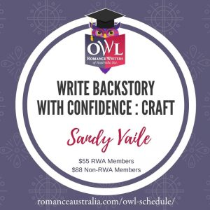 FEBRUARY OWL - Write Backstory with Confidence with Sandy Vaile