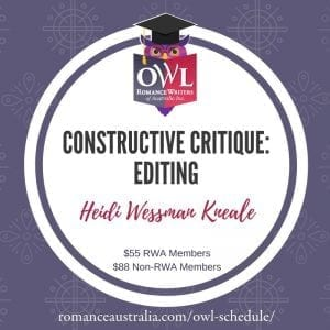 APRIL OWL - Constructive Critique with Heidi Weissman-Kneale