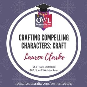 APRIL OWL - Crafting Compelling Characters with Lauren Clarke