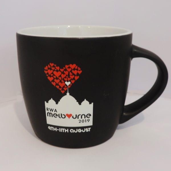 coffee mug, rwa merchandise