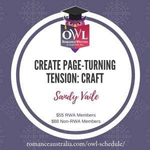 JULY OWL - Create Page-Turning Tension with Sandy Vaile