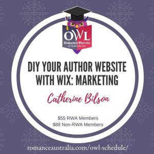 JULY OWL - DIY Your Author Website with Wix with Catherine Bilson