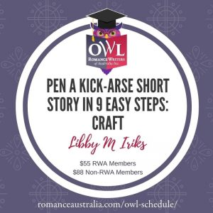 SEPTEMBER OWL - Pen a kick-arse short story in 9 easy steps with Libby M Iriks