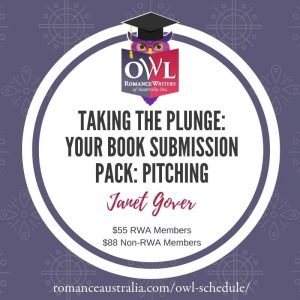 SEPTEMBER OWL - Taking the plunge: your book submission pack with Janet Gover