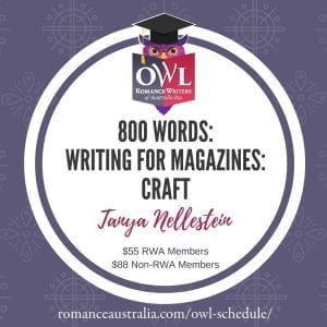 OCTOBER OWL - 800 Words: Writing for Magazines with Tanya Nellestein