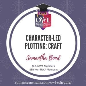 OCTOBER OWL - Character-Led Plotting with Samantha Bond
