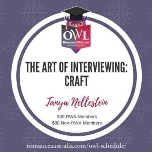 NOVEMBER OWL - THE ART OF INTERVIEWING: CRAFT with Tanya Nellestein