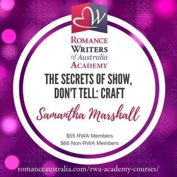 MARCH SHORT COURSE - The Secrets of Show, Don't Tell