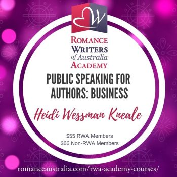 APRIL SHORT COURSE - Public Speaking for Authors with Heidi Wessman Kneale