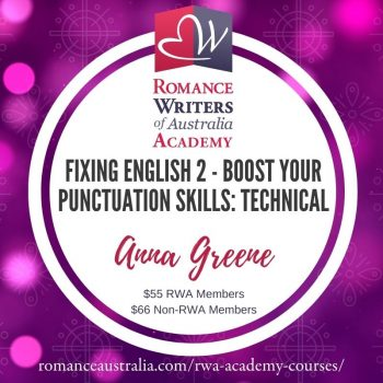 MAY SHORT COURSE - Fixing English 2: Boost your Punctuation Skills with Anna Greene