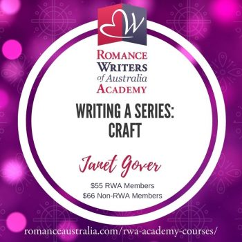 OCTOBER SHORT COURSE - Writing a Series with Janet Gover